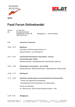 Food Forum Onlinehandel - Food