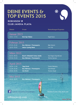 DEINE EVENTS & TOP EVENTS 2015