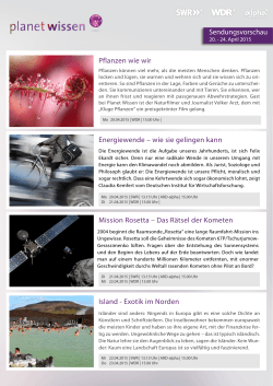 Planet Wissen Newsletter