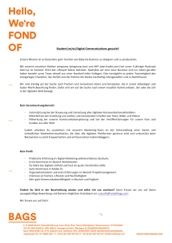 Student (m/w) Digital Communications gesucht!