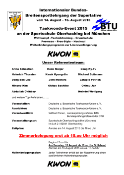 Breitensportlehrgang der Superlative Taekwondo