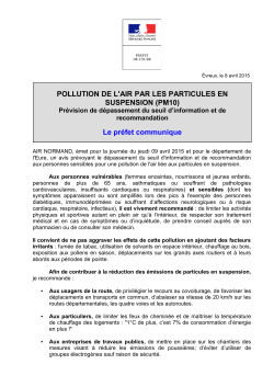 POLLUTION DE L`AIR PAR LES PARTICULES EN