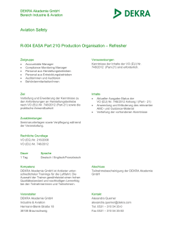 R-004 EASA Part - 21 Production Organisation