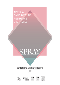 Appel candidature Spray 2015