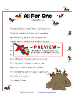 All for One (Poem) - Super Teacher Worksheets