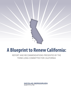 A Blueprint to Renew California: - Berggruen Institute on Governance