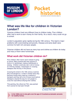 What was life like for children in Victorian London?