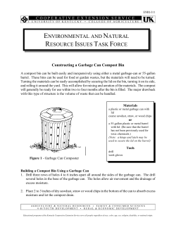 Constructing a Garbage Can Compost Bin