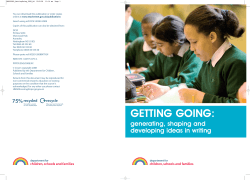 GETTING GOING: - Department for Education