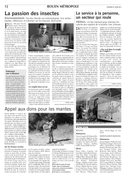 article Nicolas Moulin dans Paris Normandie du 27