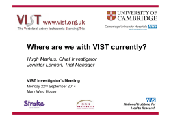 Where are we with VIST currently?