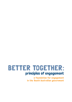 Better Together: Principles of Engagement