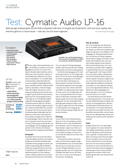 Test: Cymatic Audio LP-16