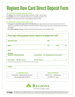 Regions Now Card Direct Deposit Form