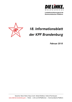 neues Informationsblatt - DIE LINKE. Brandenburg