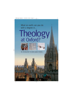 What on Earth Can You Do With a Degree in Theology