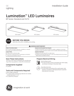 GE Lumination BT Series L LED — Installation Guide