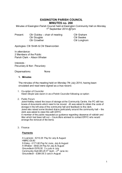 EASINGTON PARISH COUNCIL MINUTES no. 268