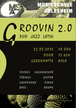GROOVIN 2.0 Rock Pop Jazz