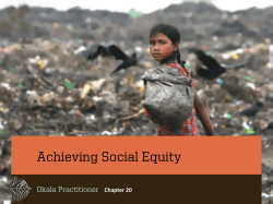 Achieving Social Equity