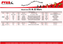 Planning - Pouzauges Vendée Handball