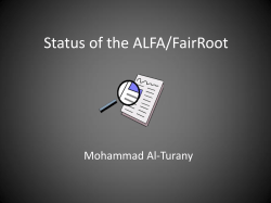 Status of the ALFA/FairRoot