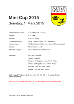 Mini Cup 2015 - Skiclub Gadmental