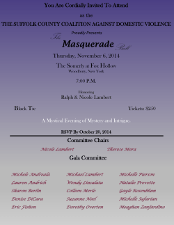 Masquerade - Suffolk County Coalition Against Domestic Violence