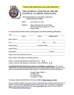the georgia chapter of the fbi national academy associates agenda