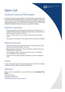 Open Call - Conference Grants for PhD Students