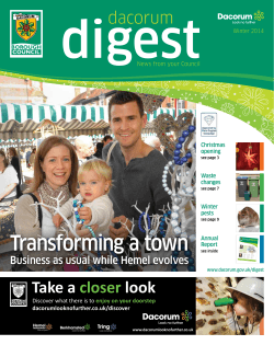 Read the latest issue of Dacorum Digest, winter 2014 (PDF 3.6MB)