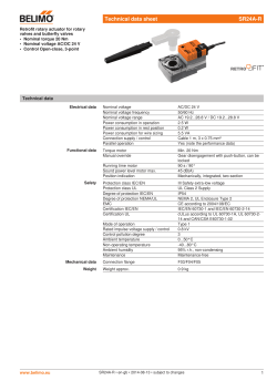 Technical data sheet SR24A-R