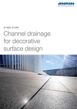 Channel drainage for decorative surface design