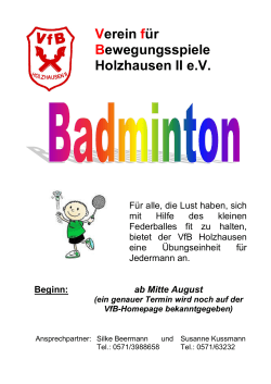 Breitensportangebot Badminton