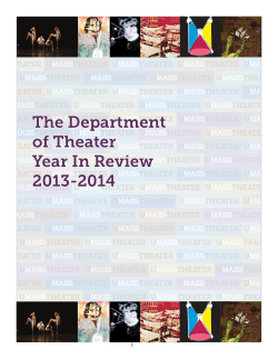 The Department of Theater Year In Review 2013-2014