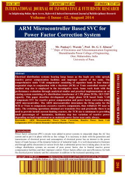 ARM Microcontroller Based SVC for Power Factor Correction