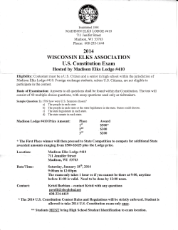WISCONSII{ ELKS ASSOCIATIOT{ - DeForest Area School District