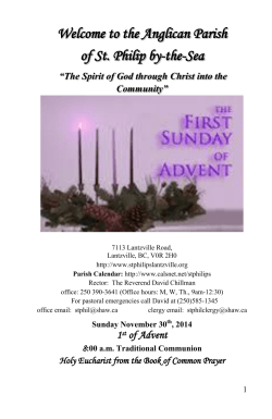 Nov 30, 2014 - Advent 1 - St Philip by-the
