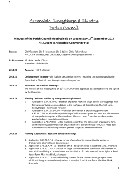 Parish Council Minutes