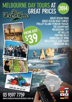 Brochure - Eco Platypus Tours