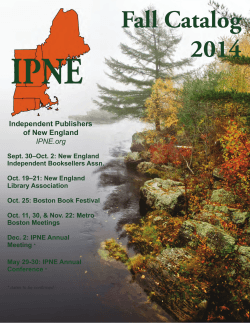 2014 Fall Catalog - Independent Publishers of New England