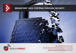 the Breakpoint 2014 brochure