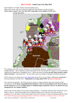 RED ALERT - Gold Coast City Plan 2015