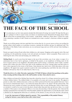 Newsletter February 2014 - Bryandale Primary School