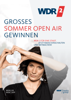 GROSSES SOMMER OPEN AIR GEWINNEN