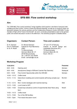 SFB 880: Flow control workshop
