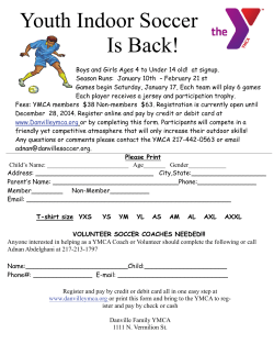 YMCA Youth Soccer (pdf) - Danville(IL) Area Soccer Association