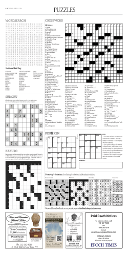 PUZZLES - Print Edition