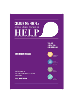Click here for Colour Me Purple Auction Catalogue