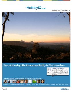 Download Horsley Hills Travel guide in PDF format